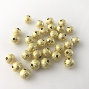 40 Gold Plated Stardust 8mm spacer beads
